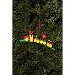 Tree Ornament - Present Train - 10,4x3,0 cm / 4.1x1.2 inch
