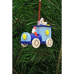 Tree Ornament - Santa Claus in Truck - 7,2 cm / 2.8 inch