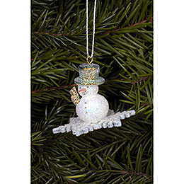 Tree Ornament - Snowman - 4,5x3,5 cm / 2x1 inch
