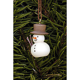 Tree Ornament - Snowman Natural - 3,0x2,0 cm / 1.2x0.8 inch