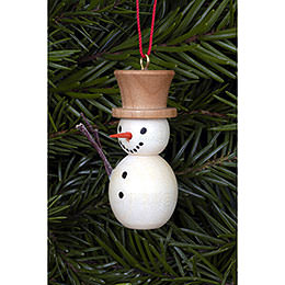 Tree Ornament - Snowman Natural Colors - 2,0x4,0 cm / 1x2 inch