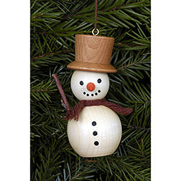 Tree Ornament - Snowman Natural Colors - 3,0x7,0 cm / 1x3 inch