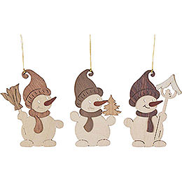 Tree Ornament - Snowman - Set of 6 - 7 cm / 2.8 inch
