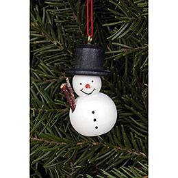 Tree Ornament - Snowman White - 2,5x4,6 cm / 1.0x1.8 inch