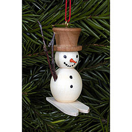 Tree Ornament - Snowman on Skis - 4,8x4,5 cm / 2x2 inch