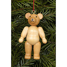 Tree Ornament - Teddy Natural Colors - 4,5 / 6,2 cm - 2x2 inch