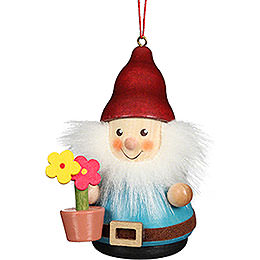 Tree Ornament Teeter Man Dwarf with Flower Pot - 8 cm / 3.1 inch