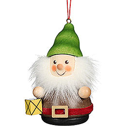 Tree Ornament Teeter Man Dwarf with Lantern - 8 cm / 3.1 inch