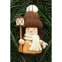 Tree Ornament - Teeter Man Lantern Boy, Natural - 9,5 cm / 3.7 inch