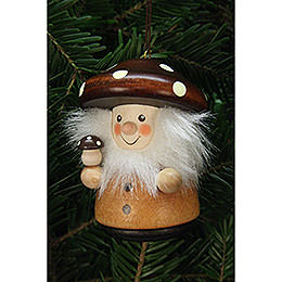 Tree Ornament - Teeter Man Mushroom Man Natural - 7,8 cm / 3.1 inch