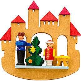 Tree Ornament - Town Gate Christmas Tree - 7 cm / 2.8 inch