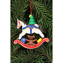Tree Ornament - Tree on Rocking Horse - 6,8x6,5 cm / 2.7x2.5 inch