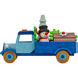 Tree Ornament - Truck Snowman with Tree - 7,5 cm / 3 inch