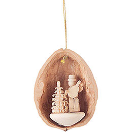 Tree Ornament - Walnut Shell Musician with Guitar - 4,5 cm / 1.8 inch