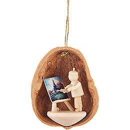 Tree Ornament - Walnut Shell Painter - 4,5 cm / 1.8 inch