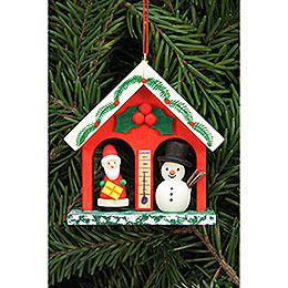 Tree Ornament - Weather House - 6,8x6,9 cm / 2.7x2.7 inch