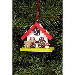 Tree Ornament - Witch House with Bambi - 7,0x5,5 cm / 2.8x2.2 inch