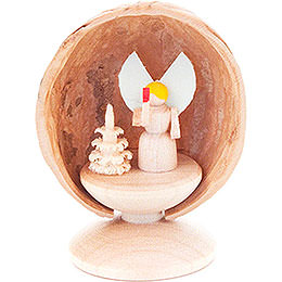 Walnut Shell with Angel - 5 cm / 2 inch