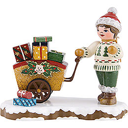 Winter Children Child with Gifts - 8 cm / 3 inch