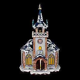 Winter Children Church Illuminated - 31 cm / 12 inch