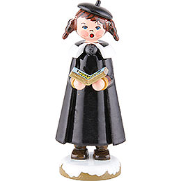 Winter Children Church Singers with Pigtail - 8 cm / 3 inch