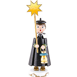 Winter Children Church Singers with Star - 11 cm / 4,3 inch