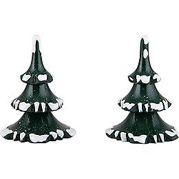 Winter Children Trees - Small - Set of 2 - 6 cm / 2.4 inch